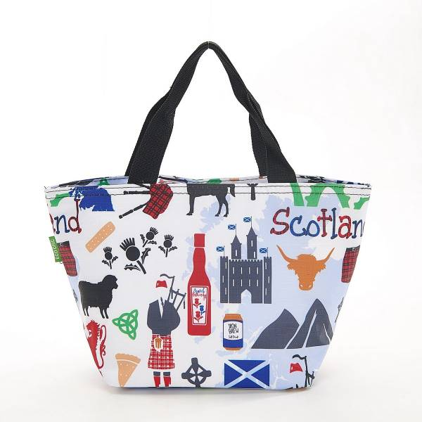 35677 C23 White Scottish Montage Cool Bag Pack Of 2