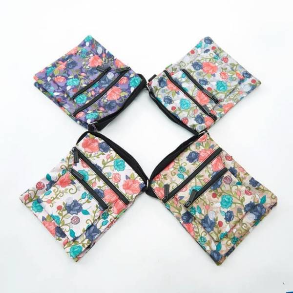 35706 Roses Foldable Cross Body Bag Pack Of 4