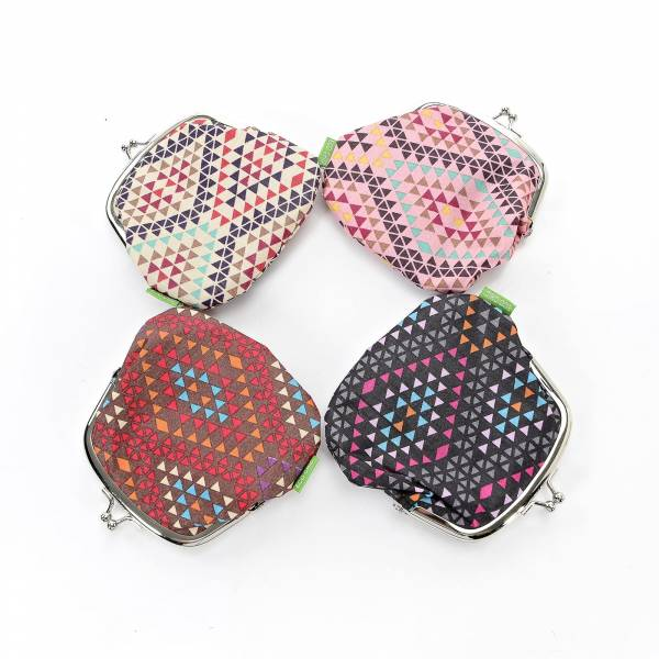 35813 Aztec Print Coin Purse Pack Of 4