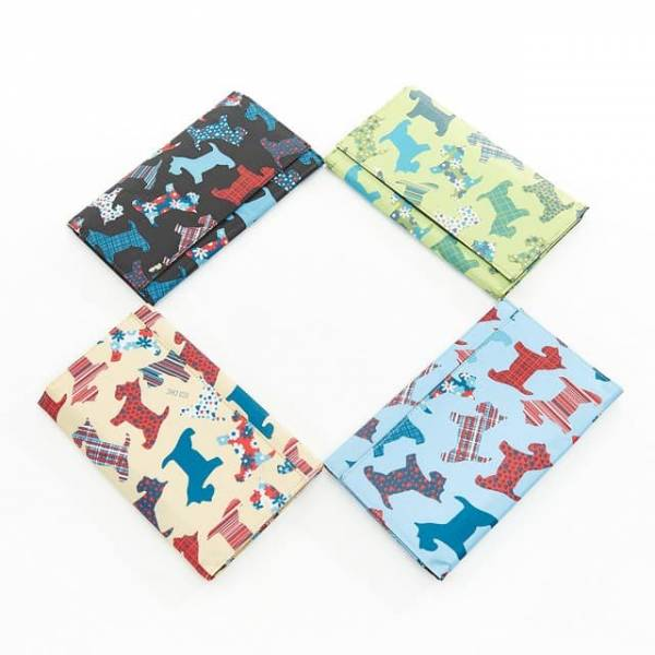 35908 New Floral Scotty Dog Travel Wallet Pack Of 4