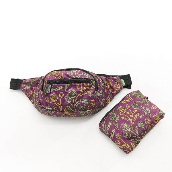 41002 Purple Thistle Foldable Bum Bag Pack Of 2