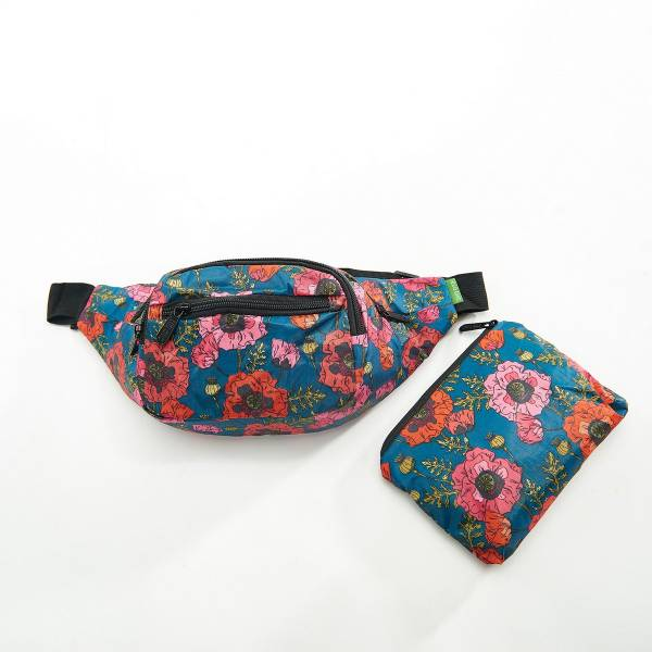 41009 Royal Blue Poppy Foldable Bum Bag Pack Of 2