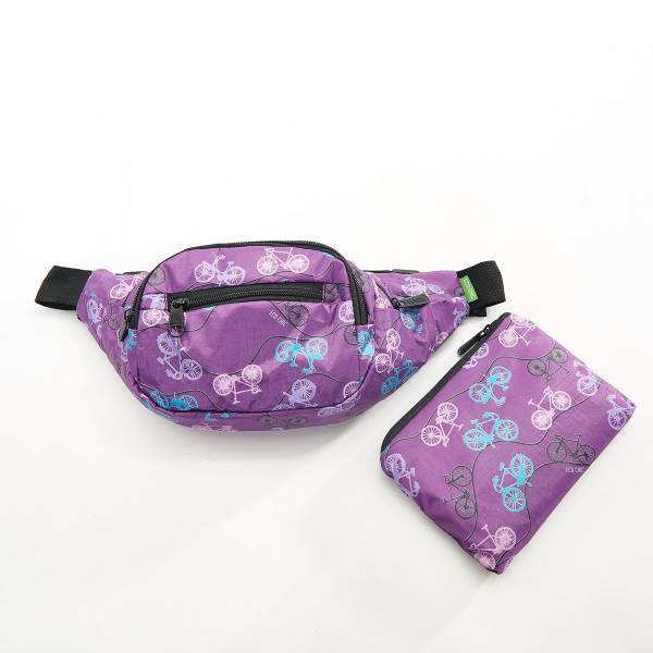 41014 Purple Bike Foldable Bum Bag Pack Of 2