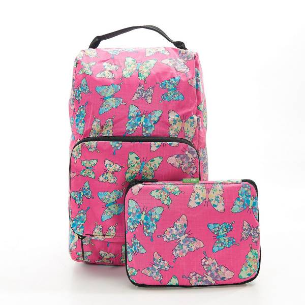 42001 Fuchsia Butterfly Foldable Boot Bag Pack Of 2