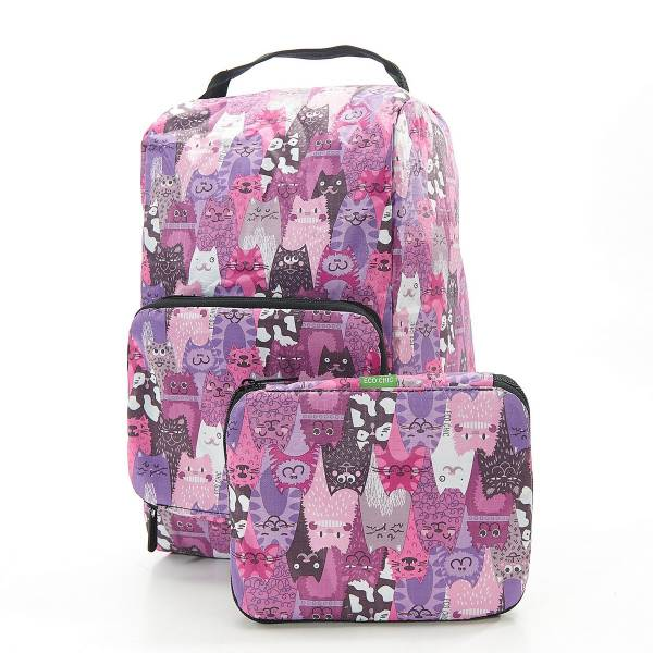 42006 Purple Cats Foldable Boot Bag Pack Of 2