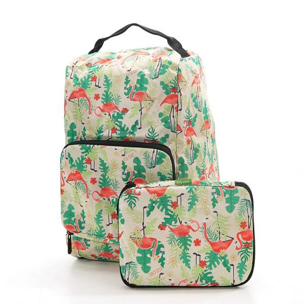 42007 Beige Flamingo Foldable Boot Bag Pack Of 2