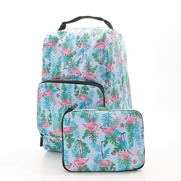 42007 Blue Flamingo Foldable Boot Bag Pack Of 2
