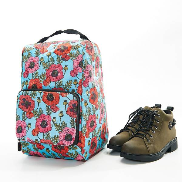 42009 Light Blue Poppy Foldable Boot Bag Pack Of 2