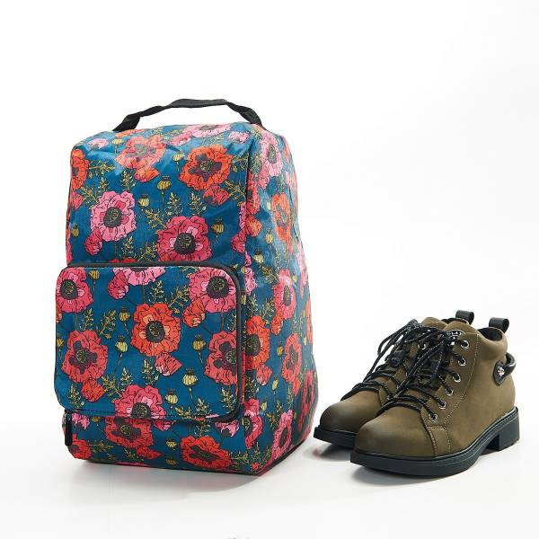 42009 Royal Blue Poppy Foldable Boot Bag Pack Of 2