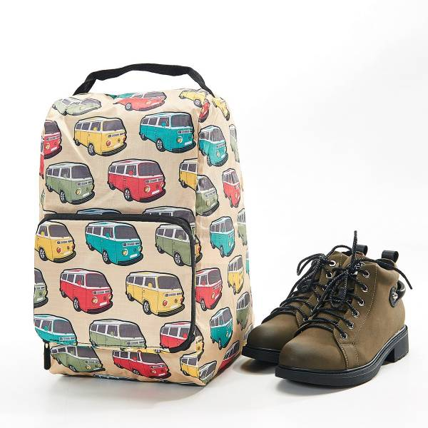 42010 Beige Camper Van Foldable Boot Bag Pack Of 2