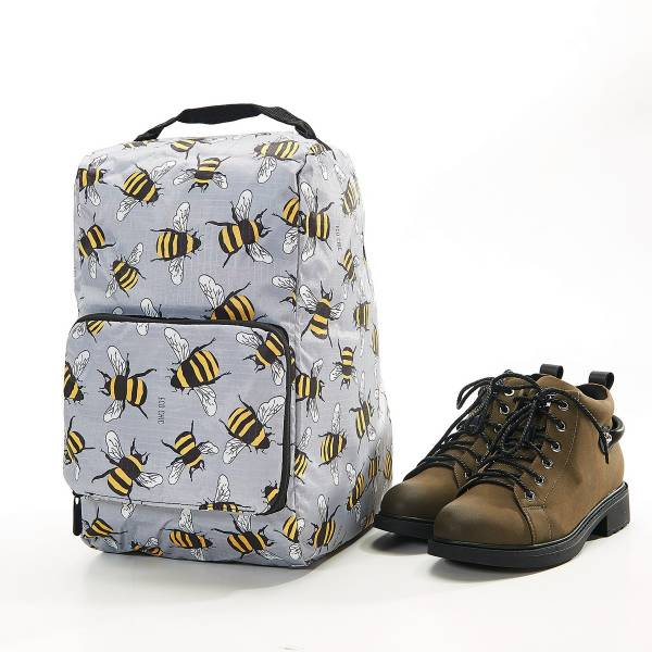 42013 Grey Bees Foldable Boot Bag Pack Of 2