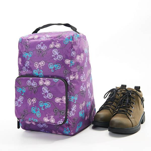 42014 Purple Bike Foldable Boot Bag Pack Of 2