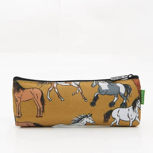 45009 Yellow Country Horses Pencil Case Pack Of 4