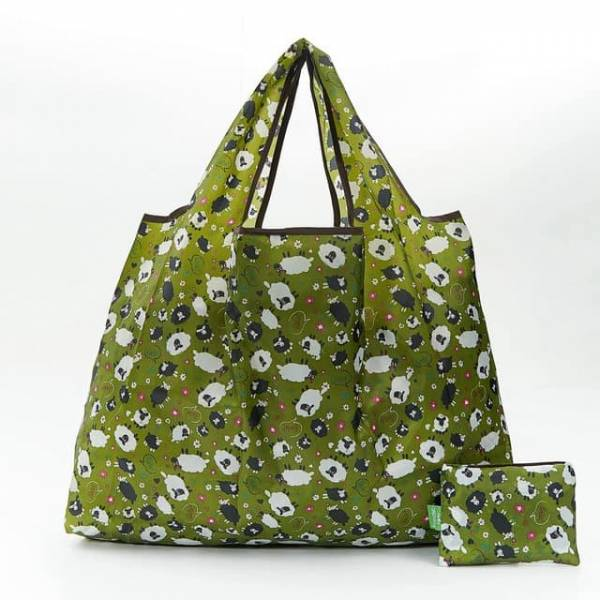 45012 Green Sheep Foldable Light Shopper Pack Of 2