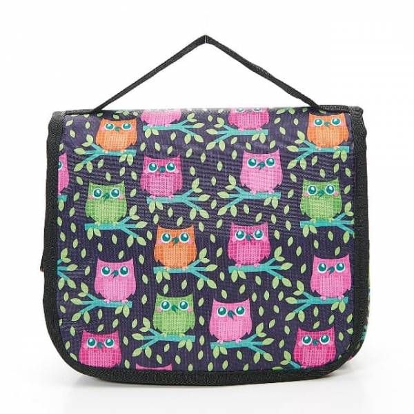 45200 Purple Owl Toiletry Bag