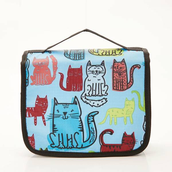45208 Blue Funky Cat Toiletry Bag