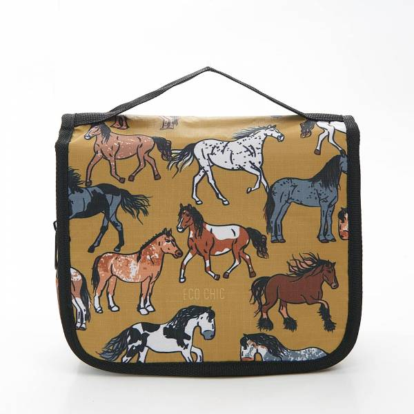 45209 Yellow Country Horses Toiletry Bag