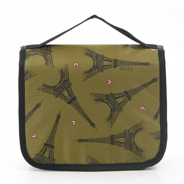 45212 Green Eiffel Tower Toiletry Bag