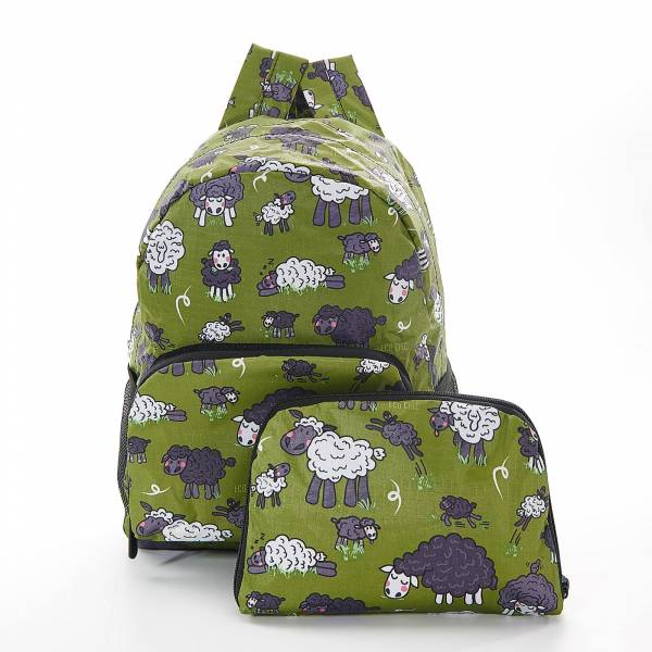 45451 Green Sheep Mini Foldable Backpack