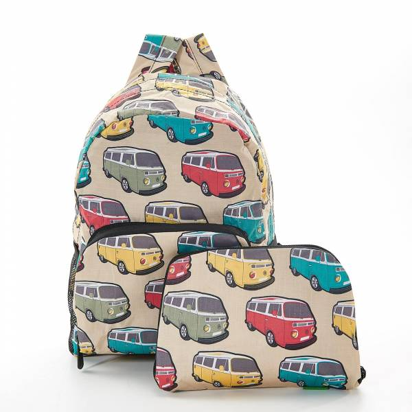 45453 Beige Camper Vans Mini Foldable Backpack