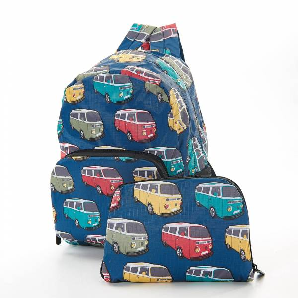 45453 Teal Camper Vans Mini Foldable Backpack