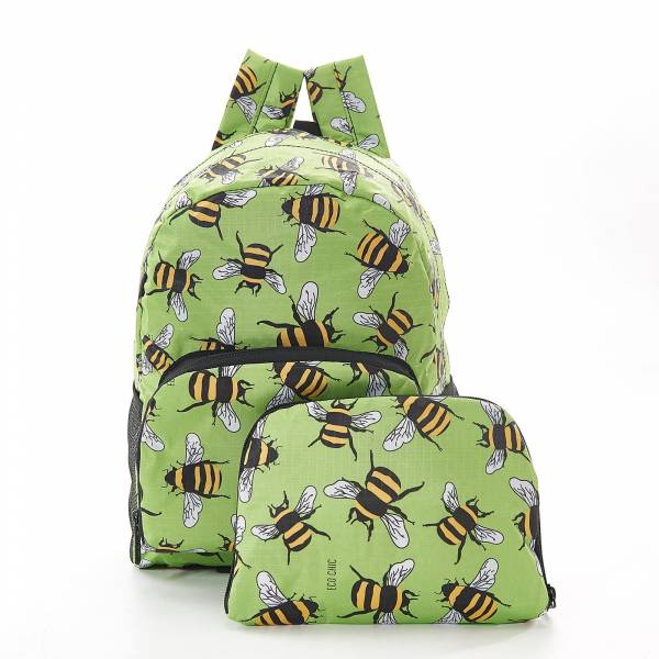45454 Green Bees Mini Foldable Backpack