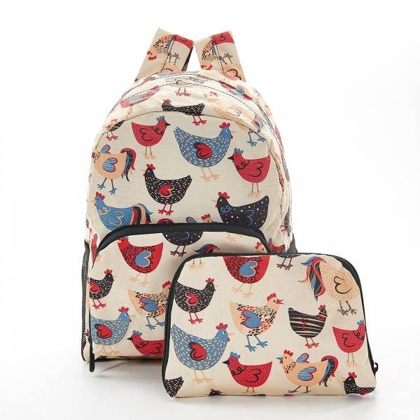 45456 Beige Chicken Mini Foldable Backpack