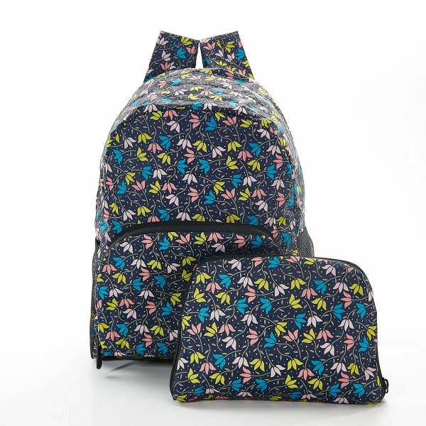 45458 Black Ditsy Doodle Mini Foldable Backpack