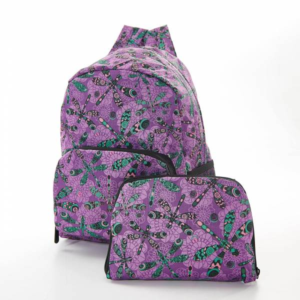 45460 Purple Dragonfly Mini Foldable Backpack