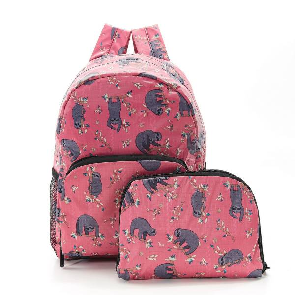 45465 Fuchsia Sloth Mini Foldable Backpack Pack Of 2