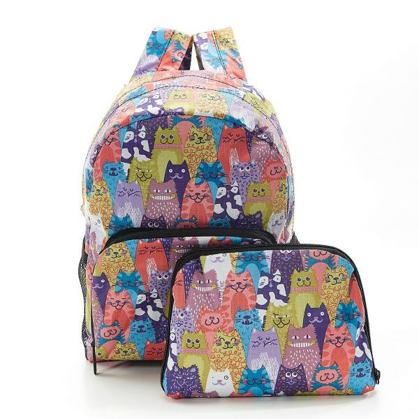 45467 Multiple Cats Mini Foldable Backpack Pack Of 2