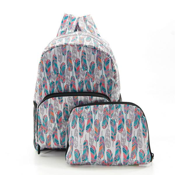 45469 White Feather Mini Foldable Backpack Pack Of 2