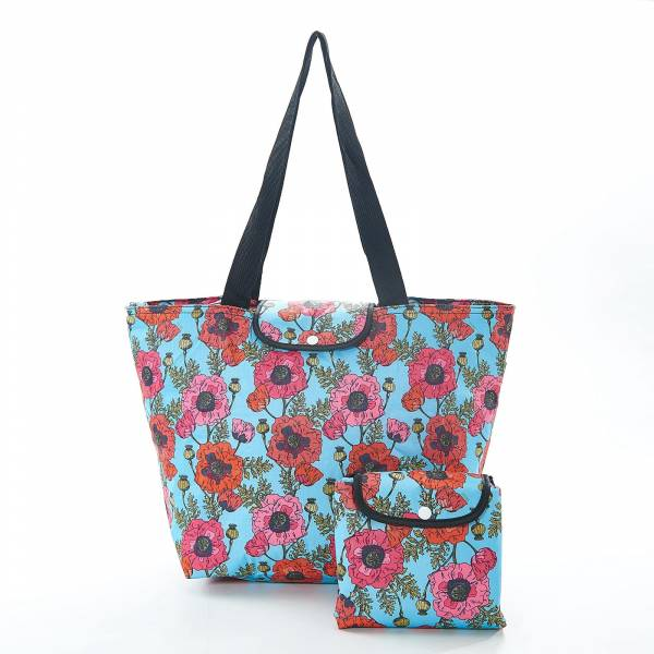 45507 E05  Poppies Foldable Large Cool Bag Pack Of 4