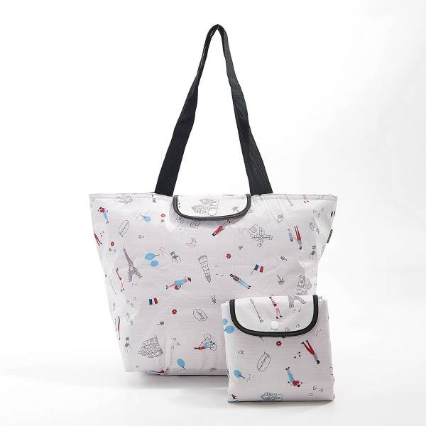 45536 White Paris Foldable Large Cool Bag Pack Of 2