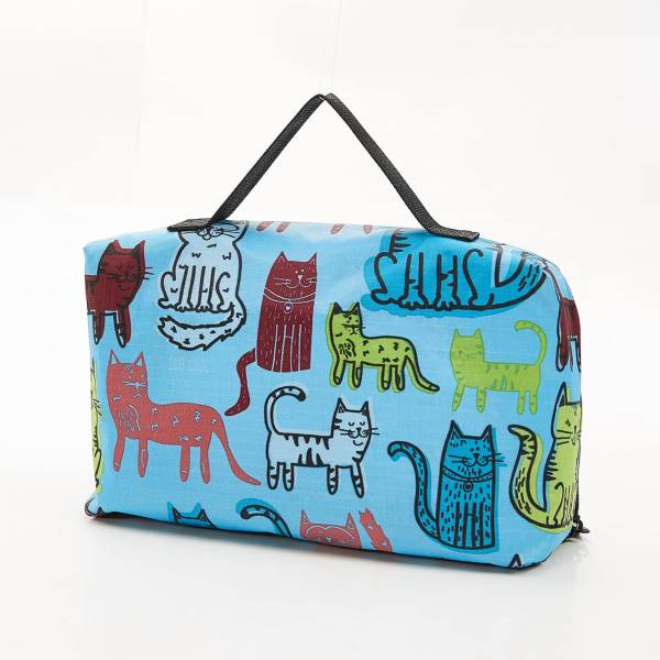 45609 Blue Funky Cat Picnic Blanket