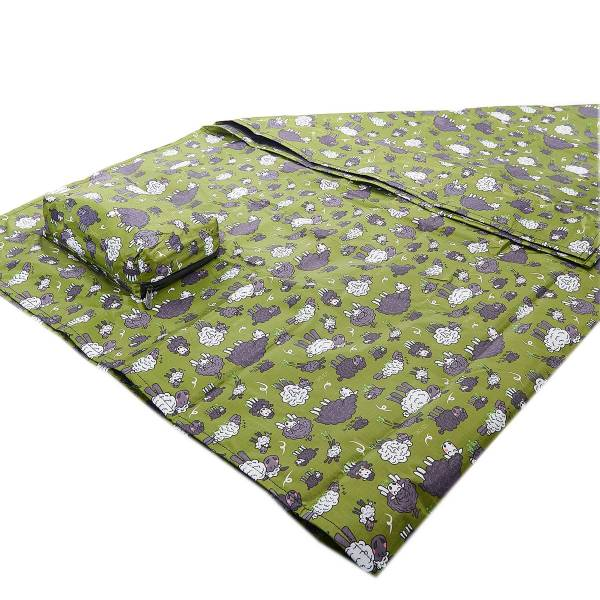 45611 Green Sheep Picnic Blanket