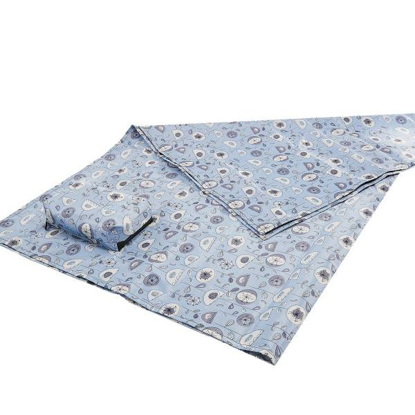45617 Grey 1950's Flower Picnic Blanket