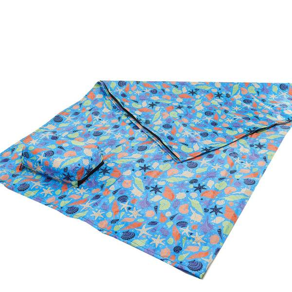 45618 Blue Seashells Picnic Blanket