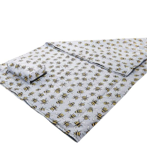 45622 Grey Bee Picnic Blanket