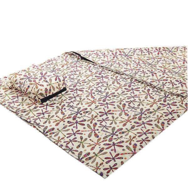 45624 Cream Dragonfly Picnic Blanket