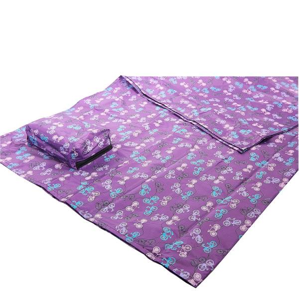 45625 Purple Bike Picnic Blanket