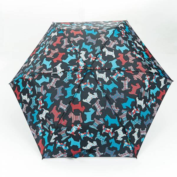 46114 New Floral Scotty Dog Mini Umbrella
