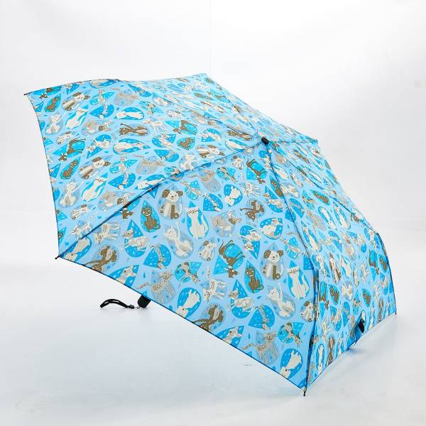 46123 Blue Rainy Cat And Dog Mini Umbrella