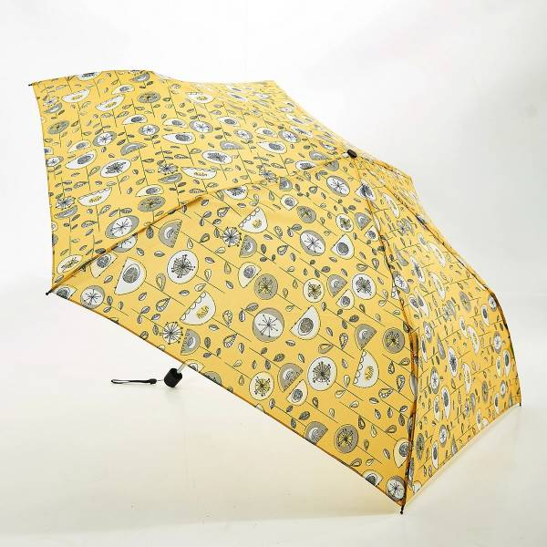 46128 Mustard 1950's Flower Mini Umbrella Pack Of 2