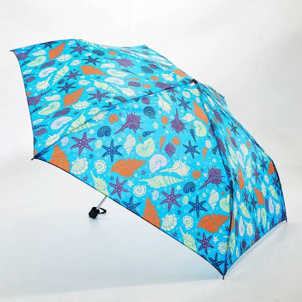46129 Blue Seashells Mini Umbrella Pack Of 2