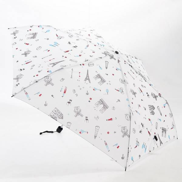 46133 White Paris Mini Umbrella Pack Of 2