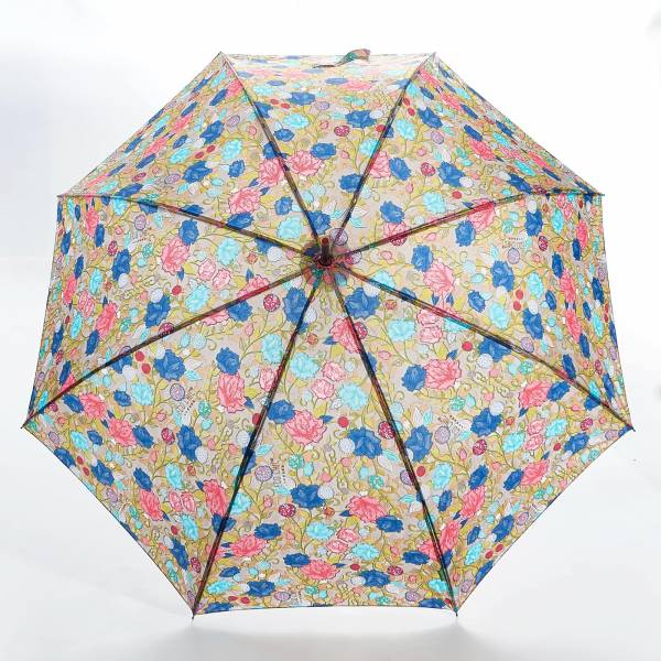 46202 Flower Fibreglass Walking Umbrella
