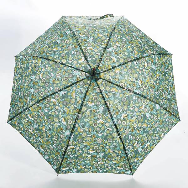 46211 Floral Bird Fibreglass Walking Umbrella
