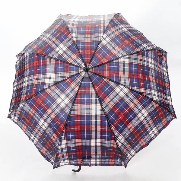 46213 Black Tartan Fibreglass Walking Umbrella