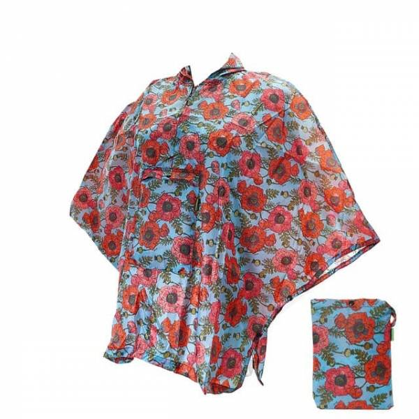 46801 Poppies Small Foldable Poncho